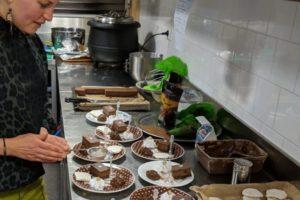 proev chocolade-hazelnoten dessert